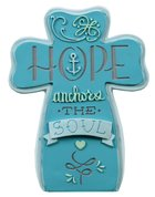 Ceramic Cross: Hope, Blue Homeware