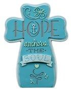 Ceramic Cross: Hope, Blue Homeware