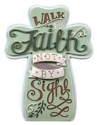 Ceramic Cross: Faith, Pale Green Homeware