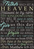 Poster Large: Lord's Prayer Poster