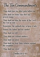 Poster Large: Ten Commandments Poster