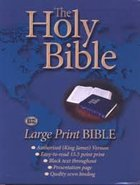 KJV Large Print Holy Bible Blue (Black Letter Edition) Vinyl
