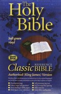 KJV Classic Reference Holy Bible Green (Black Letter Edition) Paperback