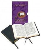 KJV Pocket Holy Bible: Authorised Reference Black Text Black Calfskin Compact Genuine Leather