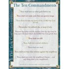 Wall Chart: Ten Commandments (Laminated) (Kjv)