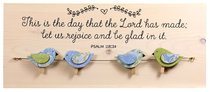 Chirps Wall Art With Photo/Note Clips: This is the Day That the Lord Has Made; Let Us Rejoice and Be Glad in It (Psalm 118:24)