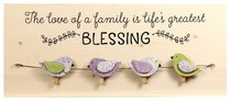 Chirps Wall Art With Photo/Note Clips: The Love of a Family is Lifes Greatest Blessing