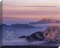 Canvas Wall Art: Press on Toward the Goal, Mountain Sunrise