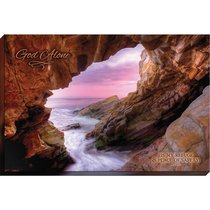 Canvas Wall Art: God Alone, Waves and Rocks