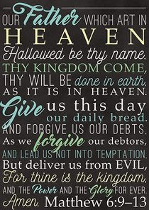 Poster Large: Lords Prayer
