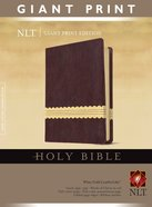 NLT Holy Bible Giant Print Wine/Gold (Red Letter Edition) Imitation Leather