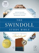 NLT Swindoll Study Bible Brown/Teal Indexed (Black Letter Edition) Imitation Leather