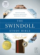 NLT Swindoll Study Bible Brown Tan Indexed (Black Letter Edition) Imitation Leather