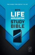 NLT Boys Life Application Study Bible Midnight Blue (Black Letter Edition) Imitation Leather