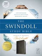 NLT Swindoll Study Bible Black Imitation Leather