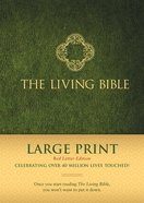 Lbp Living Bible Large Print Green (Red Letter Edition) Hardback