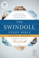 NLT Swindoll Study Bible Large Print (Black Letter Edition)