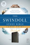 NLT Swindoll Study Bible Large Print Black (Black Letter Edition) Imitation Leather