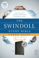 NLT Swindoll Study Bible Indexed Large Print Black (Black Letter Edition) Imitation Leather