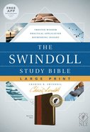 NLT Swindoll Study Bible Large Print Indexed Brown/Tan (Black Letter Edition)
