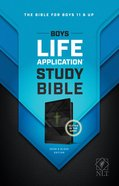 NLT Boys Life Application Study Bible Neon Black (Black Letter Edition) Imitation Leather
