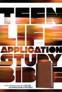 NLT Teen Life Application Study Bible Brown (Black Letter Edition)