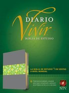 Ntv Biblia De Estudio Del Diario Vivir Gray/Green (Red Letter Edition) Imitation Leather