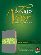 Ntvbiblia De Estudio Del Diario Vivir Gray/Green (Red Letter Edition) Imitation Leather