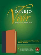Ntv Biblia De Estudio Del Diario Vivir Indexed Blue/Tan (Red Letter Edition) Imitation Leather