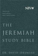 NIV Jeremiah Study Bible Charcoal Gray Fabric Over Hardback