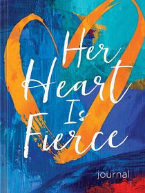 Signature Journal: Her Heart is Fierce, Blue/Orange Heart