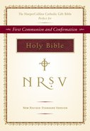 NRSV Harper Collins Catholic Gift Bible Burgundy Anglicized Imitation Leather