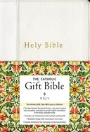 NRSV Catholic Gift Bible White Anglicized Imitation Leather