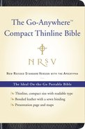 NRSV Go-Anywhere Bible Thinline With Apocrypha Black Bonded Leather