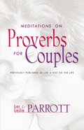 Meditations on Proverbs For Couples Paperback