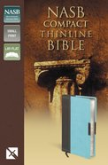 NASB Compact Thinline Bible Chocolate/Turquoise (Red Letter Edition) Premium Imitation Leather