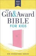 NIV Gift and Award Bible For Kids Pink (Red Letter Edition)