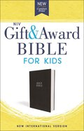 NIV Gift and Award Bible For Kids Black (Red Letter Edition)