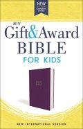 NIV Gift and Award Bible For Kids Purple (Red Letter Edition)