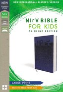 NIRV Bible For Kids Large Print Blue (Red Letter Edition) Premium Imitation Leather