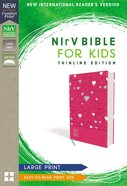 NIRV Bible For Kids Large Print Pink (Red Letter Edition) Premium Imitation Leather