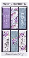 Bsk: Bookmark Magnetic : Be Still, Purple Floral (Ps 46:10) (Set of 6) (Bible Knowledge Series) Stationery