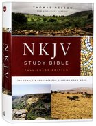 NKJV Study Bible Full-Color (Black Letter Edition) Hardback