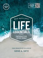 CSB Life Essentials Study Bible Tan/Blue (Black Letter Edition) Hardback