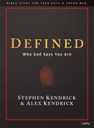 Defined (Bible Study Book For Teen Guys & Young Men) Paperback