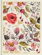 CSB Notetaking Bible Floral (Black Letter Edition) Fabric Over Hardback