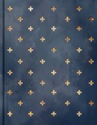 CSB Notetaking Bible Navy/Cross (Black Letter Edition) Fabric Over Hardback