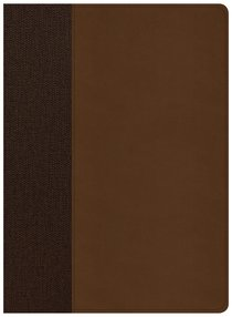 CSB Life Essentials Study Bible Brown Indexed (Black Letter Edition)