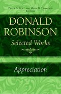 Appreciation (#05 in Donald Robinson Selected Works Series) Hardback