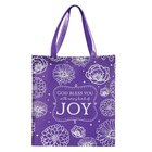 Tote Bag: God Bless You With Every Kind of Joy, Purple/White Soft Goods
